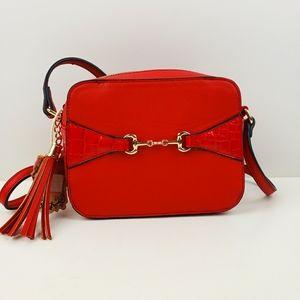 Alyssa Red Crossbody Bag